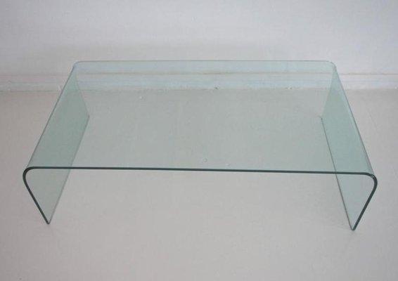 Tavoli In Cristallo Fiam Prezzi.Tavolino Da Caffe Minimalista In Cristallo Di Fiam Italia Anni
