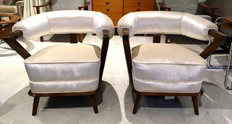 White Italian Tub Armchairs 1960s Set Of 2 For Sale At Pamono