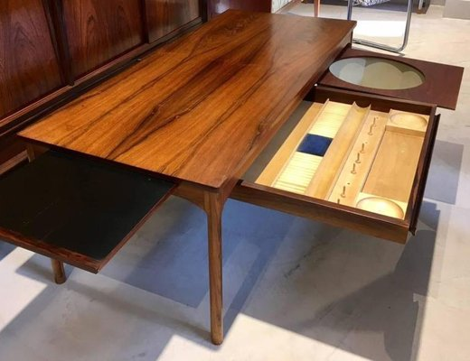 Mid Century Modern Danish Coffee Table With Haberdashery Drawers For Sale At Pamono