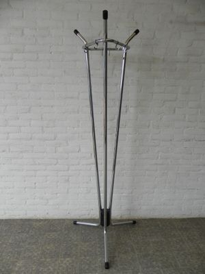 Vintage Chrome Standing Coat Rack 40s For Sale At Pamono Enchanting Vintage Standing Coat Rack