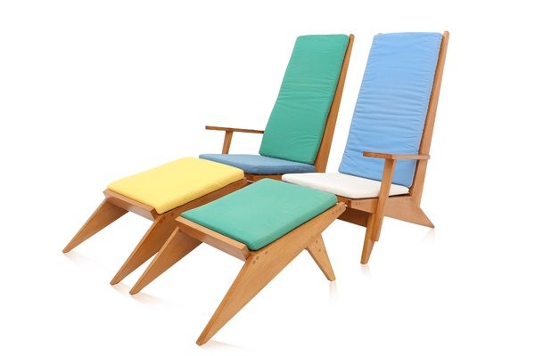 Vintage Italian Swimming Pool Lounge Chairs, 1970s 1