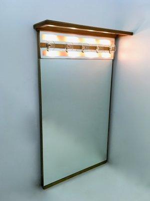 Attaccapanni vintage illuminato con specchio, Italia