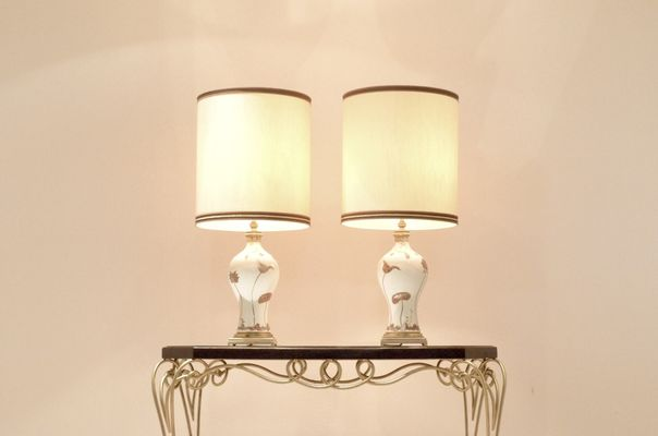 Mid Century French Table Lamps From Porcelaine De Sèvres, 1960s, Set Of 2