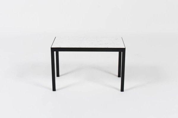 Table Basse Vintage Avec Marbre Blanc De Carrare 1