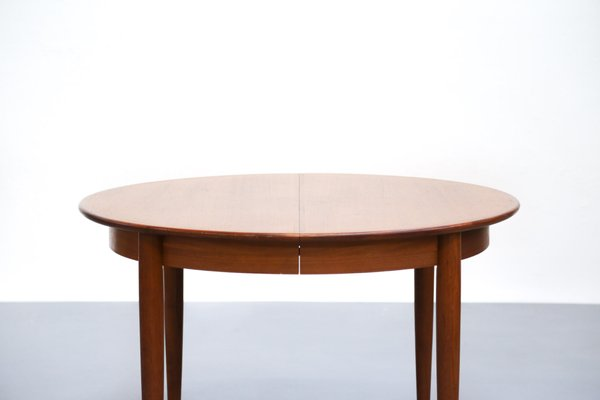 Table De Salle A Manger Scandinave En Teck Avec Extensions En