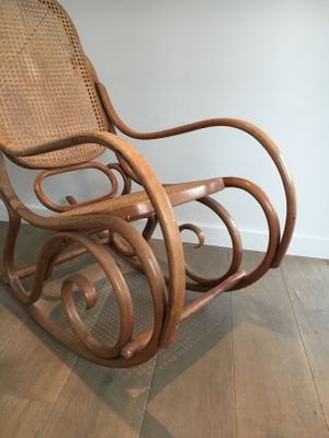Marvelous Vintage Bentwood Rocking Chair, 1970s 4