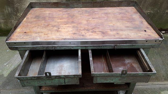 Tavoli Da Lavoro Vintage : Banco da lavoro vintage industriale anni in vendita su