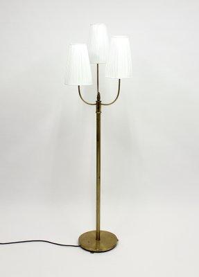 Vintage Three Light Br Floor Lamp 1940s