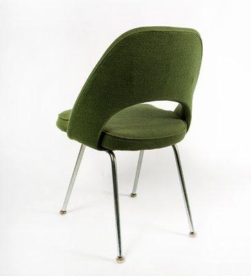 Chaise Mid Century Executive En Vert Par Eero Saarinen Pour Knoll 1958 2