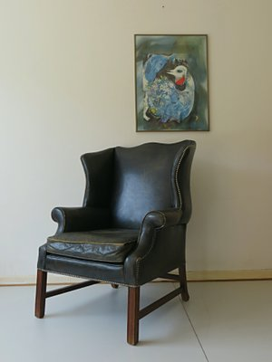 English Art Deco Chesterfield Armchair 1