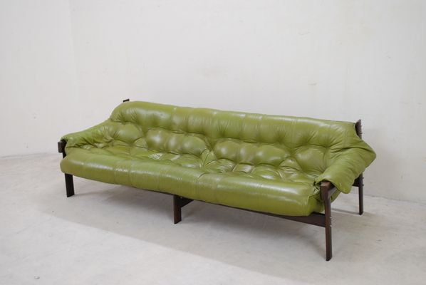 Model Mp 041 Lime Green Leather Sofa From Percival Lafer 1961 6