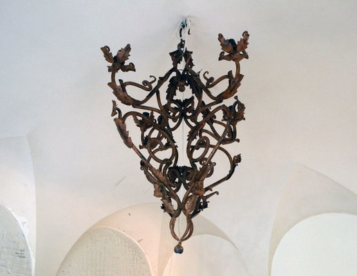 Hand Made Wrought Iron Chandelier