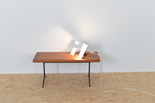 Lampe de bureau vintage en métal blanc espagne en vente sur pamono