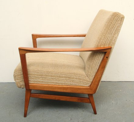 Mid-Century Solid Cherry Wood Lounge Chair 1950s 2 & Mid-Century Solid Cherry Wood Lounge Chair 1950s for sale at Pamono