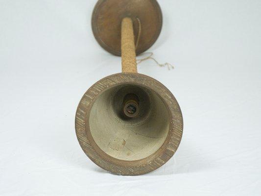 Lampada da terra in legno e corda italia anni in vendita su