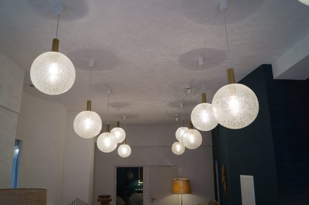Bubble Gl Ball Lamps From Doria 1960s Set Of 11