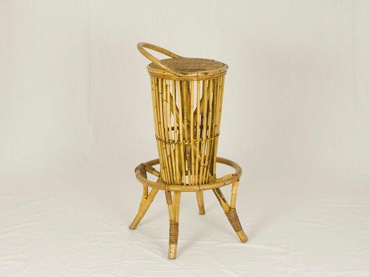 Stupendous Vintage Italian Rattan Bar Stools Set Of 2 Inzonedesignstudio Interior Chair Design Inzonedesignstudiocom
