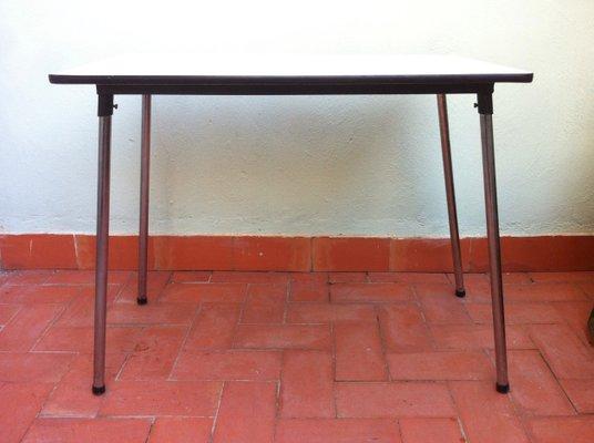 Mesa de cocina plegable belga de formica, años 60