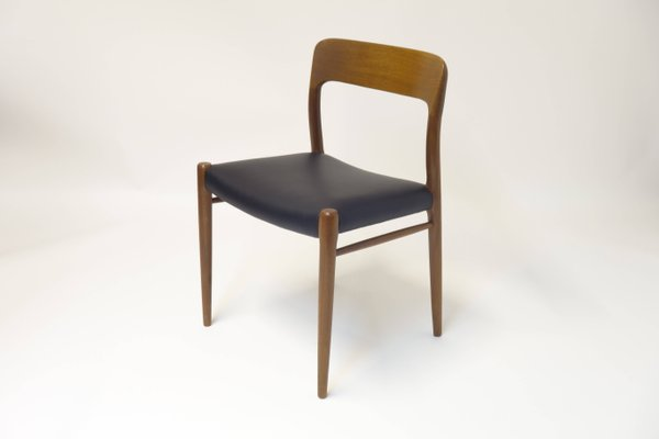 Ordinaire Model 75 Chairs By N.O. Møller For J.L. Møller, 1963, Set Of 6 1