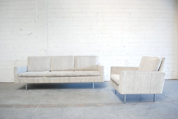 Florence Knoll Poltrona.Model 25 Bc Sofa And Chair By Florence Knoll For Knoll International 1950s