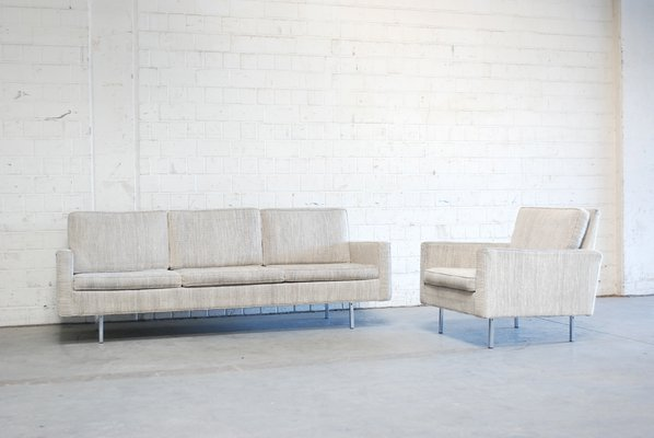 Mid Century 25 Bc Sofa Sessel Von Florence Knoll Bassett Fur Knoll