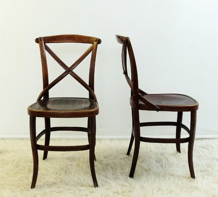 Antique Chairs by Jacob & Josef Kohn for Thonet, ... - Antique Chairs By Jacob & Josef Kohn For Thonet, Set Of 2 For Sale