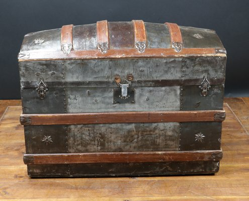 Antique American Curved Trunk 1870 For