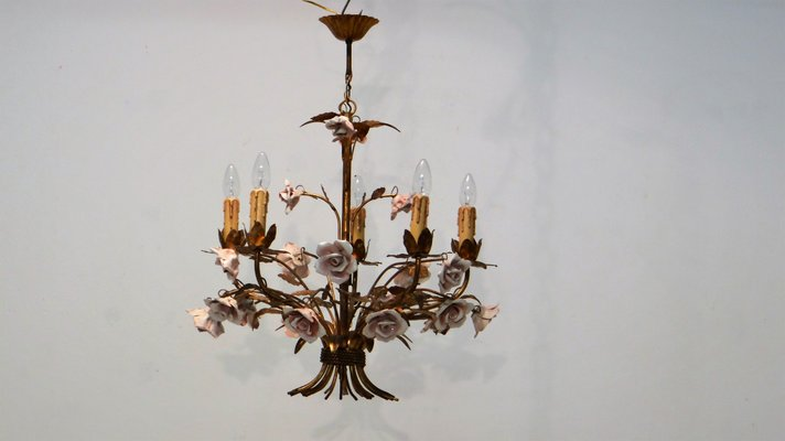 9187d10d9604 Mid-Century Hollywood Regency Chandelier