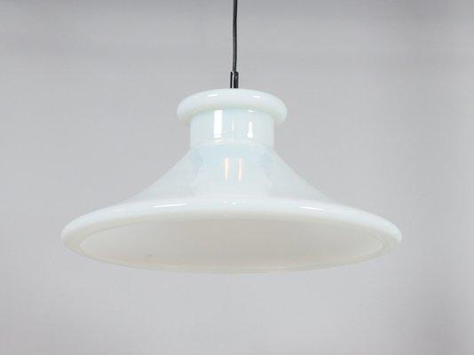 Lampade In Vetro A Sospensione : Lampada a sospensione vintage in vetro bianco di orrefors svezia in