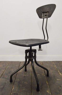 Chaise Vintage Industrielle Par Henri Libier Pour Flambo 1