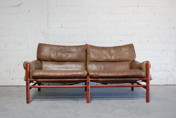 Phenomenal Vintage Kontiki 2 Seater Leather Sofa By Arne Norell Dailytribune Chair Design For Home Dailytribuneorg