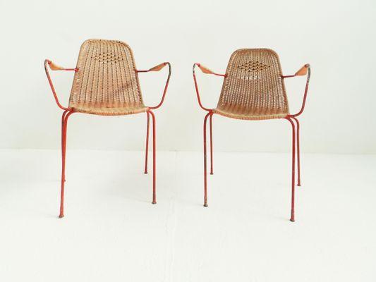 Sedie da giardino vintage italia set di 6 in vendita su pamono
