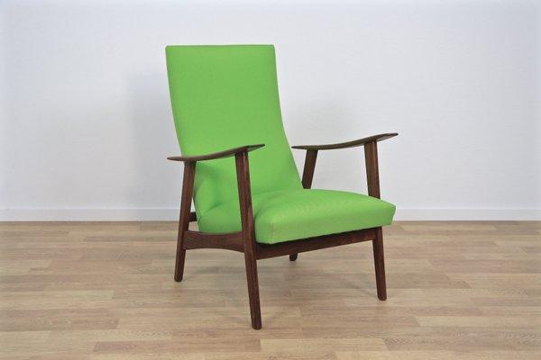Groovy Mid Century Danish Lounge Chair In Teak Green Fabric 1960S Dailytribune Chair Design For Home Dailytribuneorg