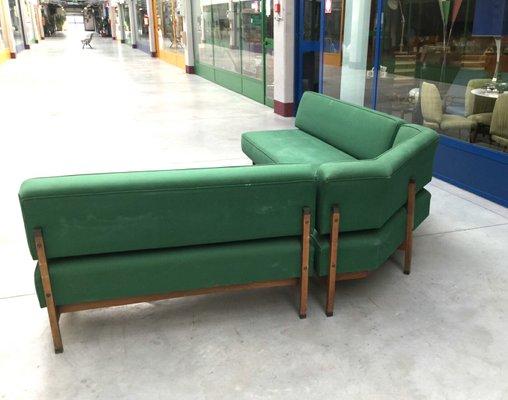 Mid Century Italian Green Modular Corner Sofa 1960s 2