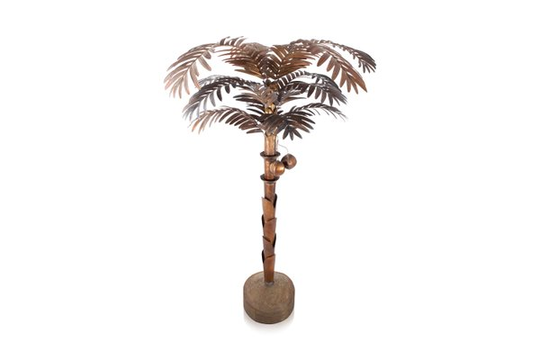 Vintage brass palm tree floor lamp for sale at pamono vintage brass palm tree floor lamp 1 aloadofball Choice Image