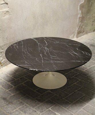 Vintage Black Tulip Coffee Table By Eero Saarinen For Knoll International 2