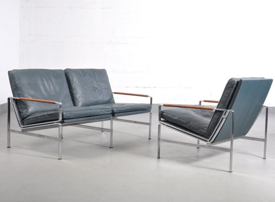 Vintage FK 6720 Chair & Two-Seater Sofa by Fabricius & Kastholm for Kill  International