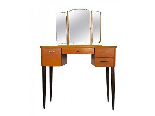Coiffreuse Vintage avec Miroir Triptyque en vente sur Pamono