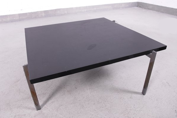 Vintage PK61 Coffee Table With Black Slate Top By Poul Kjaerholm 1