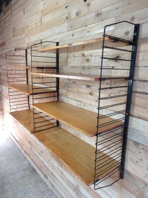 industrial metal and light wooden shelving unit 1955 2 - Industrial Metal Shelving