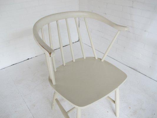 Sedie Vintage Anni 50 : Sedia vintage bianca di yngve ekström anni 50 in vendita su pamono