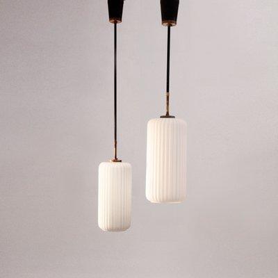 italian pendant lighting. Vintage Italian Pendant Lamps With Opaline Glass, 1950s, Set Of 2 1 Lighting