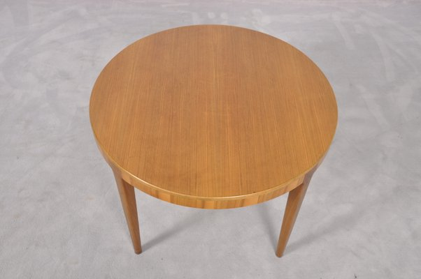 Mid Century Round Danish Teak Coffee Table 1960s 4