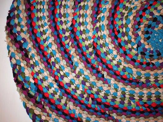 Vintage American Handmade Braided Rug