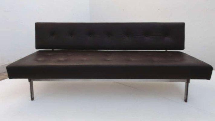 Italian 872 Leather Sofa by Gianfranco Frattini for Cassina, 1958
