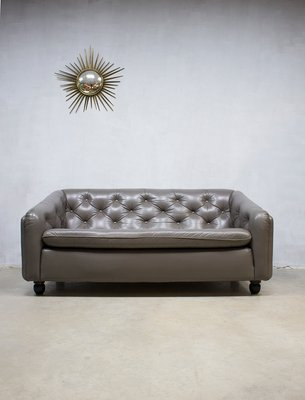 Vintage Leather Sofa By Geoffrey Harcourt For Artifort For Sale At