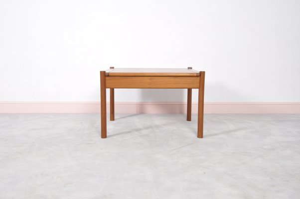 Vintage Danish Teak Coffee Table With Rounded Edges 1