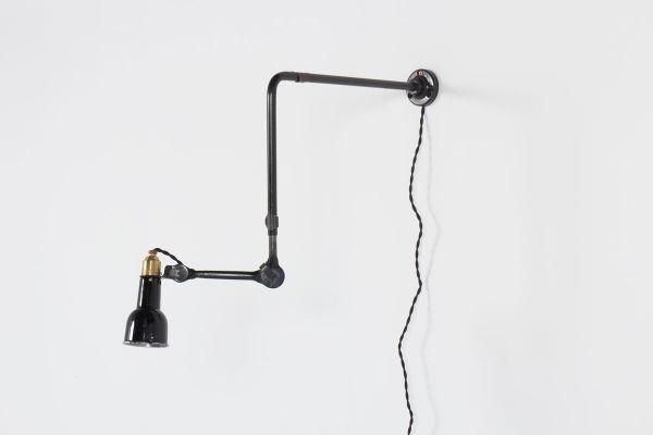 Vintage Wall Lamp by Bernard Albin Gras for Ravel Clamart, 1930s for ...