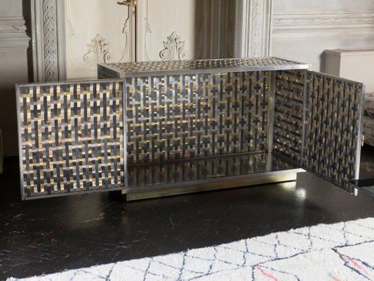 Charmant Intreccio Steel, Iron And Brass Band Cabinet By Franco Mariotti For  Edizioni Flair, 2017