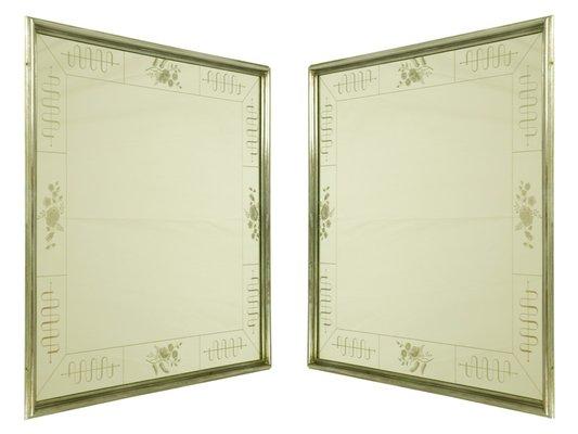 Art Deco Spiegel : Italienische vertiefte art deco spiegel von enzo tradico für